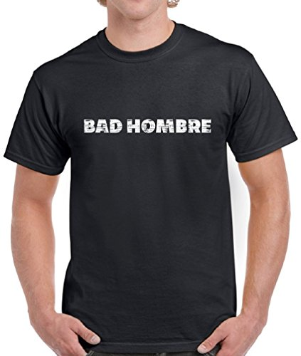 Vizor Men's Bad Hombre T-shirts Shirts Tops Anti-Trump Support Mexican T-shirts Shirts Tops Black - Songs Mayo Cinco De Good