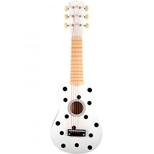 Danish Toys Kindergitarre Punkte schwarz weiß Spielgitarre Lerngitarre Gitarre Spielzeug Holz Holzspielzeug Junge Mädchen