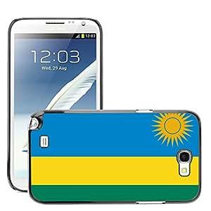 GoGoMobile Etui Housse Coque de Protection Cover Rigide pour // V00001151 rwanda bandera nacional País // Samsung Galaxy Note 2 II N7100
