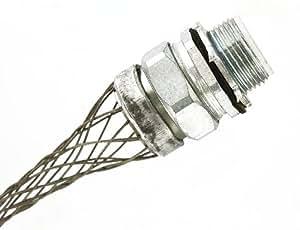 Leviton L7904 1-Inch, Straight, Male, Aluminum Body, Liquid-Tight Metal Core Conduit, Strain-Relief Grip