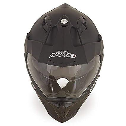 Amazon.es: Dual Sport Aventura Enduro Casco de Motocross NENKI NK NK-313 ECE Aprobado (Mate Negro, Tamaño XL)