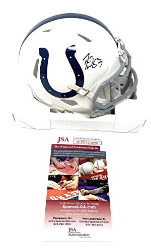 - Darius Leonard Indianapolis Colts Signed Autograph Speed Mini Helmet JSA Witnessed Certified
