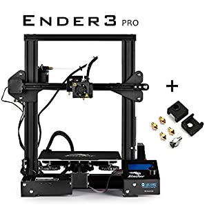 """SainSmart x Creality Ender-3 PRO 3D Printer with Upgraded C-Magnet Build Surface Plate Mat, UL Certified Power Supply, Extra 4 Nozzles, Build Volume 8.7"""" x 8.7"""" x 9.8"""" from SainSmart"""