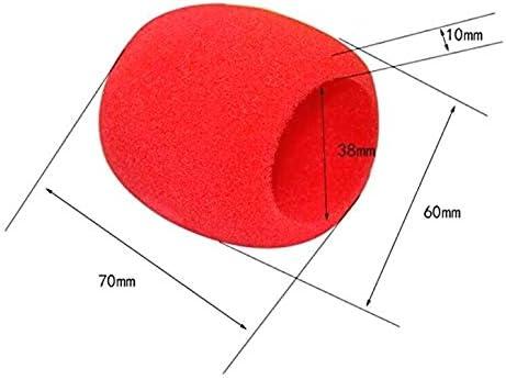 Dasket Mousse de Pare-Brise Microphone Bonnette Main Couvercle pour Microphone Mousse 10Pcs