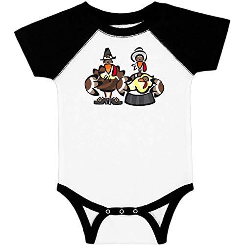 (inktastic - Mr. and Mrs. Tom Turkey Infant Creeper 18 Months White & Black 236 )