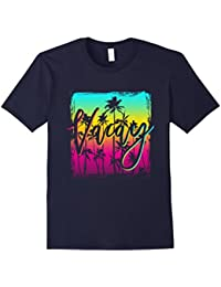 Retro Sunset Palm Tree Vacay T-shirt For Women Men