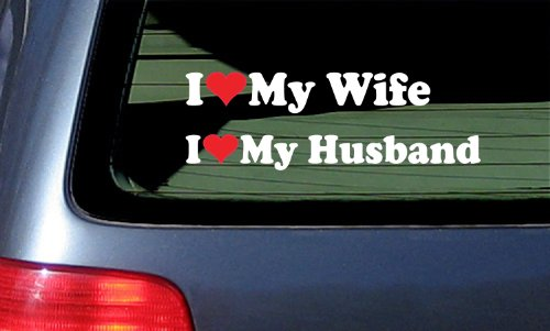 Set Husband Decal Sticker White