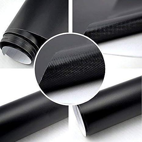 Autofolie Matt schwarz BLASENFREI 0, 3m x 1, 52m mit Luftkanä le 3D Flex TipTopCarbon