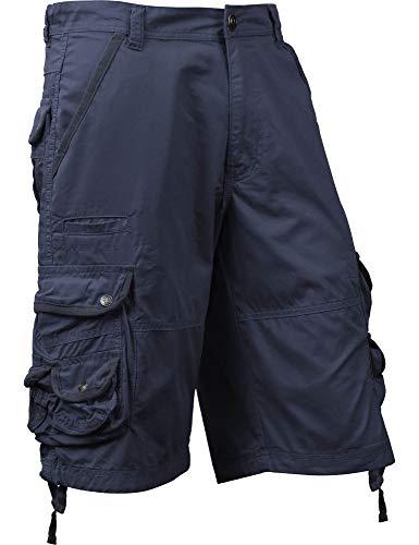 SM Mens Premium Cargo Shorts Without Belt (42, sm01_Navy)