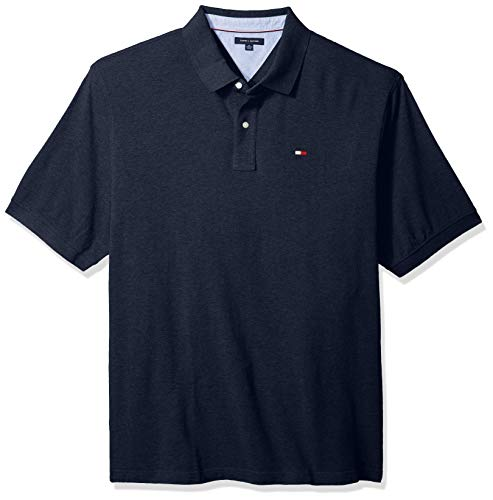 Tommy Hilfiger Men's Big and Tall Polo Shirt Ivy, Classic Navy, BG-4XL (Tommy Hilfiger Polo Sale)