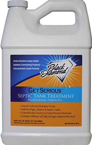 Mighty Concentrated Liquid (GET SERIOUS Septic Tank Treatment Liquid Natural Enzymes For Residential, Commercial, Industrial, RV's Systems. (1, gallon))