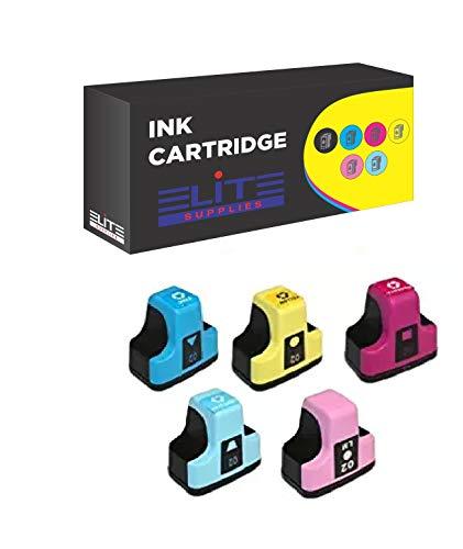 - Elite Supplies 5 Pack Compatible Inkjet Cartridge Replacement for HP02 HP-02XL, HP C8721W, HP Photosmart (Cyan, Magenta, Yellow, Light Cyan, Light Magenta)