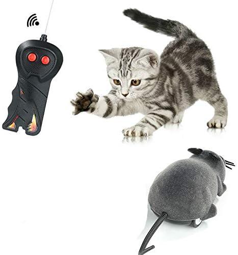YANGDIAN Juguete Gato 1pcs Control Remoto Inalámbrico Electrónico Rata Ratón Mascota Gato Ratones Juguete Juguete Broma Truco De Miedo Truco De Gato Cachorro Niños Juguete Regalos: Amazon.es: Productos para mascotas