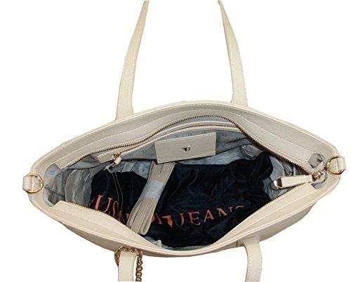 Borsa TRUSSARDI JEANS B552 handbag SHOPPING ischia AVORIO