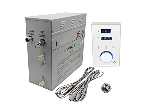 Superior Steam Generator DeLuxe. Black or White Keypads in 6kW, 9kW or 12kW (6kW, White Keypad)