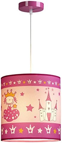 Hipkid HK-DLP175 L/ámpara de techo infantil dise/ño de princesa