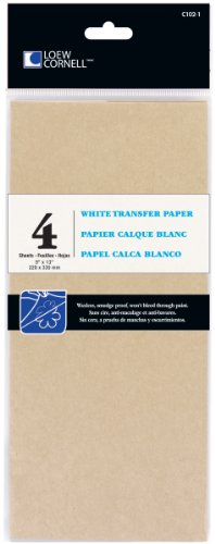 White Transfer Paper (Loew Cornell 102-1 4-Piece White Transfer Paper, 9-Inch-by-13-Inch)