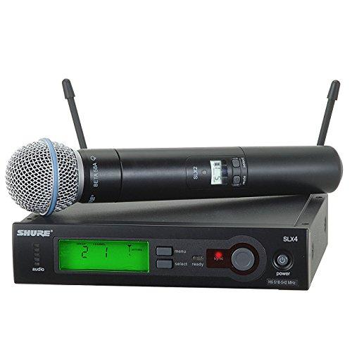 Shure SLX24/BETA58 H5 | SLX2/BETA58 SLX4 Handheld Microphone Wireless System