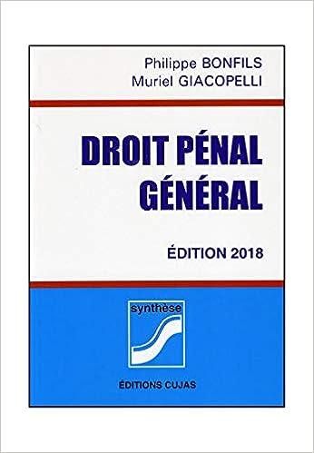 Amazon Fr Droit Penal General Bonfils Philippe Giacopelli Muriel Livres