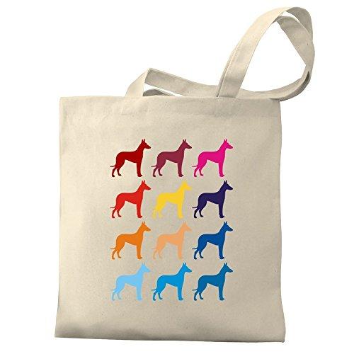 Tote Colorful Hound Canvas Eddany Colorful Ibizan Eddany Bag FwqnYaE