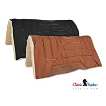 Classic Equine Classic Work Saddle Pad - Brown by Classic