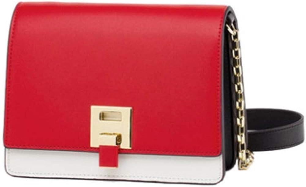 Zqtumimg Female Spring Shoulder Bag Leather Contrast Color Small Square Bag Shoulder Chain Bag Tide Brand Shoulder Bag Handbags /& Wallets Gift