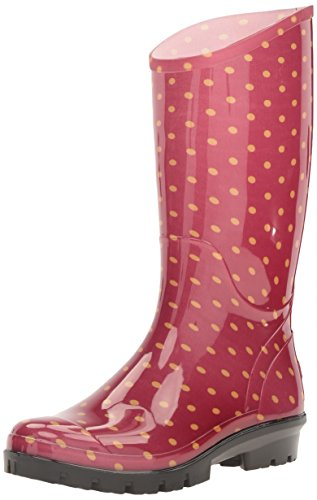 Columbia Women's Rainey Tall Print Rain Boot, Rocket/Bling, 9 B US
