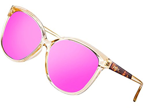ATTCL Women's Polarized Oversized Vintage Cat Eye Sunglasses 5012-BABIPink