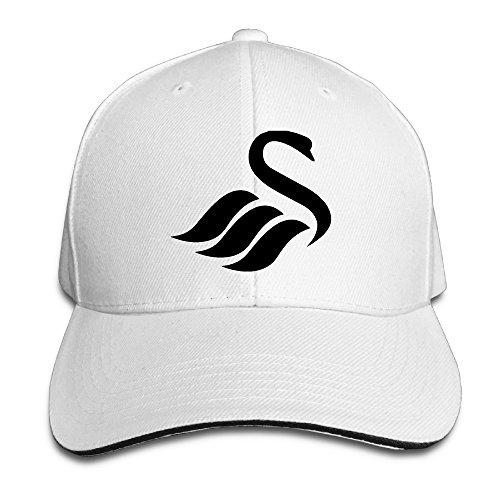 Swansea City AFC Logo Men Contrast Baseball Cap Sandwich Peak (Bieber Wig)