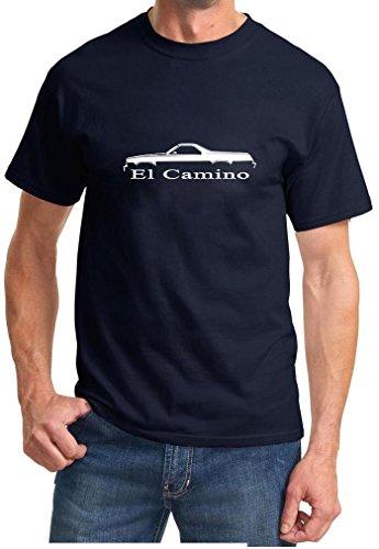 1973-77 El Camino Classic Outline Design Tshirt XL navy blue (1973 El Camino Ss 454 For Sale)