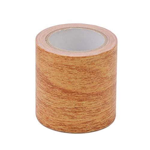 huanban072 5M/Roll 8 Colors Furniture Tape Realistic Woodgrain Repair Washi Tape Adhensive Duct Tape for Furniture (5# Natural Oak)