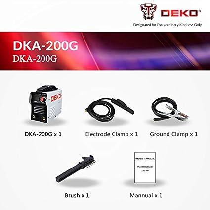DEKO DKA Series IGBT Soldadora Eléctrica de Arco Inversor 220V MMA Soldadora para Trabajos de Soldadura y Trabajos Eléctricos.: Amazon.es: Bricolaje y ...