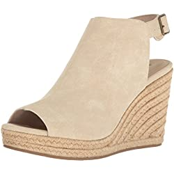 Unlisted Women's Over Time Espadrille Wedge Sandal, Stone, 7.5 M US