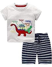 Nwada Ropa Bebe Niño Conjunto Camiseta y Pantalon Corto Disfraz Verano Traje Chandal Primavera Pijama 18 Meses - 6 Años