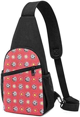 ボディ肩掛け 斜め掛け 花柄 小紋 ショルダーバッグ ワンショルダーバッグ メンズ 軽量 大容量 多機能レジャーバックパック