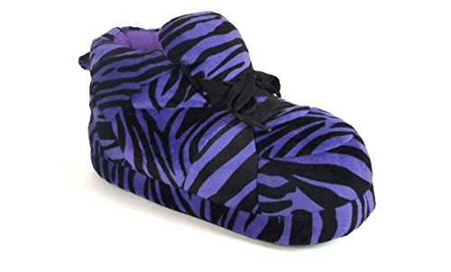 Happy Feet 1114-1 - Snooki's Purple Zebra Print - Small Snooki -
