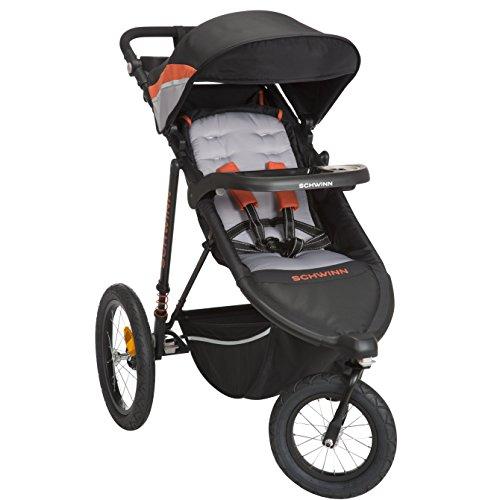 Schwinn Interval 2-in-1 Jogging Stroller with Locking Front Wheel (Oriole) For Sale