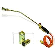 PMD Products Propane LP Gas Torch 3 Nozzle Tips Heater Ice Snow Melt Pipe Thaw Weed Burner Tool