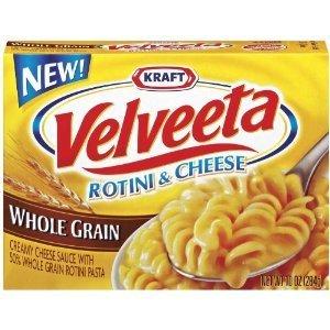 Kraft, Velveeta, Rotini & Cheese, Whole Grain, 10oz Box (Pack of 5)