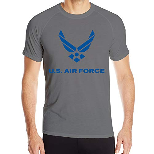 VANMASS US Air Force Men Quick Dry Short Sleeve Athletic Shirts Deep ()