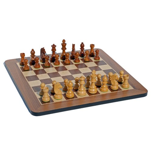 Staunton Chess Set - Grand 19 Inch Walnut Board - Full Tournament Size Wooden Pieces, Weighted & Hand Polished