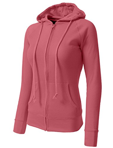 NE PEOPLE Women Casual Light Weight Thermal/Plain Hoodie (Cycling Womens Zip Hoodie)
