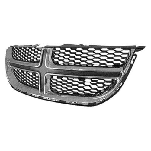 New Grille For 2011-2018 Dodge Caravan, 2012-2015 Ram Cargo Van Matte Black With Chrome Molding, Made Of Abs Plastic CH1200342 68088969AC