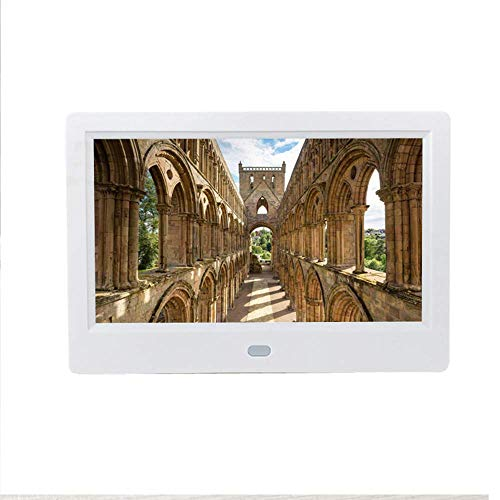 LoMe Electronic Photo Frame, 7 inch HD LCD Digital Photo Picture Frame Wide Screen High Resolution 800480 Clock MP3 MP4 Video Player,White