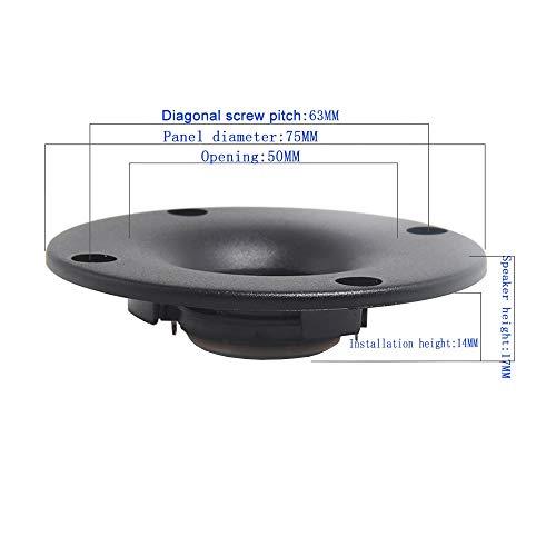 LITAO-XIE, 2pcs 3 Inch Tweeter Speakers 4Ohm 20W Aluminum NdFeB Treble Loudspeaker Bookshelf Audio Speakers For Home…