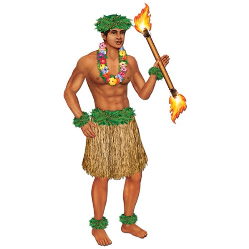 Hula Dancer Costume Men (Jointed Polynesian Dancer Party Accessory (1 count) (1/Pkg))