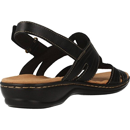 Leisa Vigne Confortable Forme T Dames Sandale Leather De Clarks En Black BdwqP5Bg
