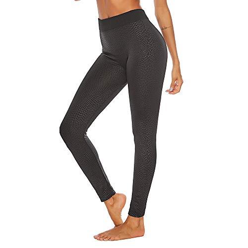 High Waist Leggings nikunLONG Women Plus Size Workout Snake Print Leggings Slim Tummy Control Fitness Sport Yoga Pants Black