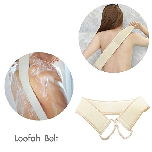 FYD Loofah Luxury Home Spa Gift Set All in One - Loofah Sponges,Loofah Belt, Loofah Long Handle, Loofah Pads Exfoliating Set Improve Skin Health and Cellulite Blood Circulation by FYD (Image #2)