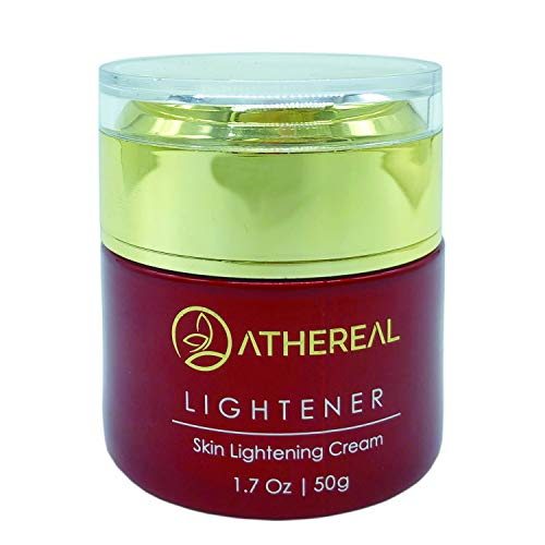 (Athereal Skin Lightening Cream | Brightens Skin & Evens Skin Tone | Lightens Dark Spots | Fights Skin Aging & Acne | Contains Alpha Arbutin & Kojic Acid | Suitable for All Skin Types | 1.7)